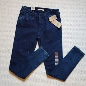 Levi's 535 super skinny studded jeans size 30 nwt